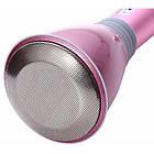 Беспроводной микрофон К-068 bluetooth для караоке / Tuxun k068 с динамиком (Розовый), фото 4