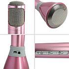 Беспроводной микрофон К-068 bluetooth для караоке / Tuxun k068 с динамиком (Розовый), фото 7