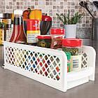 Органайзер для хранения для ванной или кухни Basket Drawers Portable на 2 съемные секции   подставка для кухни, фото 4