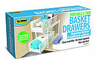 Органайзер для хранения для ванной или кухни Basket Drawers Portable на 2 съемные секции   подставка для кухни, фото 5