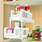Органайзер для хранения для ванной или кухни Basket Drawers Portable на 2 съемные секции   подставка для кухни, фото 6