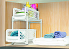 Органайзер для хранения для ванной или кухни Basket Drawers Portable на 2 съемные секции   подставка для кухни, фото 8