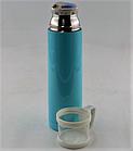 Вакуумный термос из нержавеющей стали BENSON BN-46 Голубой (350 мл) | термочашка, фото 6