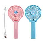 Портативный ручной или настольный мини вентилятор с USB зарядкой Mini Fan розовый, фото 8