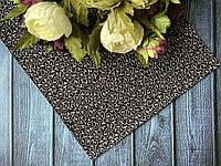 Экокожа Серебристые узоры на черном на плотной основе 20 х 34 см, 10 листов/уп оптом