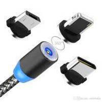 Зарядный магнитный кабель 3 В 1 Lightning Шнур MicroUsb  для Iphone Type C 360 градусов для зарядки Ваших
