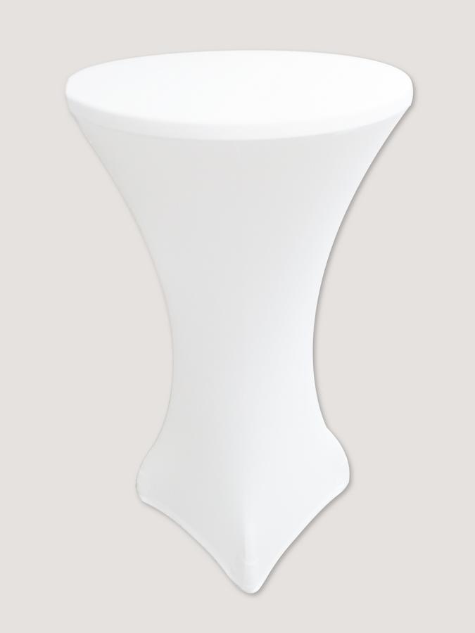 """Стрейч чехол на стол """"Виктор"""" 60/110 Белый из плотной ткани Спандекс"""