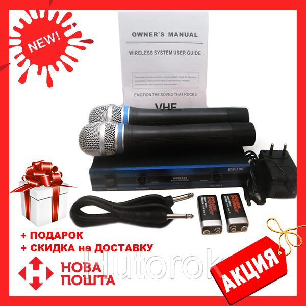 Радиосистема DM EW 100 и 2 беспроводных микрофона | радиомикрофон | беспроводной микрофон