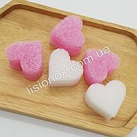 Наполнитель для слаймов – поролоновые сердечки (5 шт.), добавки в слайм, фото 1
