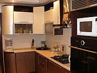 Кухня с радиусными фасадами. Кухня под заказ.