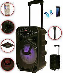Акустическая система Колонка аккумуляторная DMS K8-8G Bluetooth, USB, MP3, Wireless LED