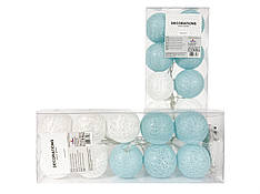 Гирлянда тайские шарики  Carry Cotton Balls 10led, диам 6см, длина 235см на батарейках АА
