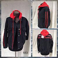 """Куртка-MOM джинсовая женская, съемный капюшон, размеры M-2XL (4цв)""""Jeans Style"""" недорого от прямого поставщика"""