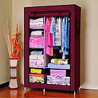 Тканевый шкаф - органайзер для вещей 105*45*175см HCX 88105 на 2 секции | складной шкаф Storage Wardrobe, фото 3