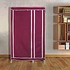 Тканевый шкаф - органайзер для вещей 105*45*175см HCX 88105 на 2 секции | складной шкаф Storage Wardrobe, фото 5