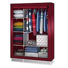Тканевый шкаф - органайзер для вещей 105*45*175см HCX 88105 на 2 секции | складной шкаф Storage Wardrobe, фото 6