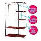Тканевый шкаф - органайзер для вещей 105*45*175см HCX 88105 на 2 секции | складной шкаф Storage Wardrobe, фото 7