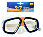 Детская маска для подводного плаванья 0321-32SH Синяя | очки для плавания | очки - маска для ныряния, фото 6