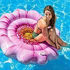 Пляжный надувной матрас - плот Intex 58787 «Розовый Цветок», 142 х 142 см , фото 2