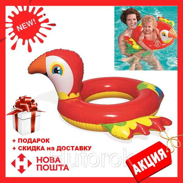 Детский надувной круг Bestway 36128 «Попугай», 84 х 76 см | надувной круг для детей