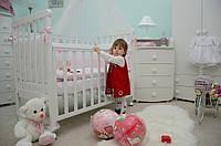 Детская кроватка Верес Соня ЛД12 Белая с резьбой Лапки 12.06