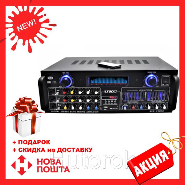 Усилитель мощности звука UKC AMP AV 1800 | компактный усилитель звука | усилитель мощности