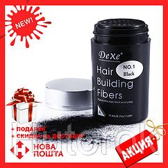 Загуститель волос DeXe кератиновые строительные микроволокна | пудра - камуфляж