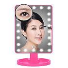 Зеркало для макияжа с LED подсветкой Magic MakeUp Mirror прямоугольное РОЗОВОЕ, фото 2