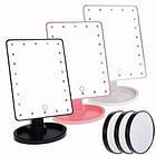 Зеркало для макияжа с LED подсветкой Magic MakeUp Mirror прямоугольное РОЗОВОЕ, фото 3