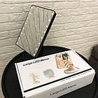 Зеркало для макияжа с LED подсветкой Magic MakeUp Mirror прямоугольное РОЗОВОЕ, фото 6