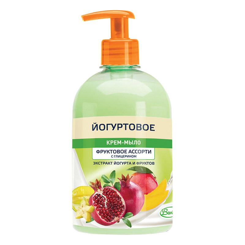 """Крем-мыло йогуртовое Velta Cosmetic с глицерином """"Фруктовое ассорти"""" 500 гр"""