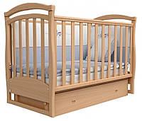 Детская кроватка Верес Соня ЛД6 с маятником и ящиком Бук 06.01
