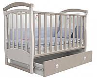 Детская кроватка Верес Соня ЛД6 с маятником и ящиком Капучино 06.10