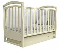 Детская кроватка Верес Соня ЛД6 с маятником и ящиком Слоновая кость 06.04