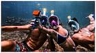 Инновационная маска для снорклинга подводного плавания Easybreath голубая, фото 9