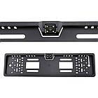 Камера заднего вида в авто номерной рамке с 4 LED подсветкой Black, фото 7