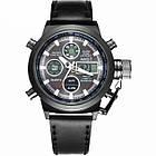 Мужские наручные армейские часы AMST Watch | кварцевые противоударные часы черные, фото 2
