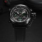 Мужские наручные армейские часы AMST Watch | кварцевые противоударные часы черные, фото 5