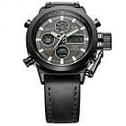Мужские наручные армейские часы AMST Watch | кварцевые противоударные часы черные, фото 7