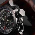 Мужские наручные армейские часы AMST Watch | кварцевые противоударные часы черные, фото 9