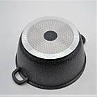 Кастрюля с мраморным антипригарным покрытием Benson BN-308 (5.3 л) | казан с крышкой прямой формы для индукции, фото 6