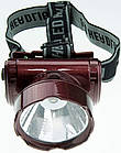Налобный аккумуляторный фонарь YAJIA YJ-1898-1 | фонарик на лоб, фото 7