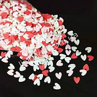 Посыпка для слаймов – фимо сердечки (200 шт.), добавки в слайм, Love slime, фото 1