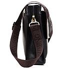 Кожаная сумка Polo Videng | мужская сумка Поло КОРИЧНЕВАЯ, фото 3