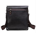 Кожаная сумка Polo Videng | мужская сумка Поло КОРИЧНЕВАЯ, фото 5