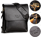 Кожаная сумка Polo Videng | мужская сумка Поло КОРИЧНЕВАЯ, фото 9