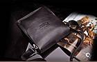Кожаная сумка Polo Videng | мужская сумка Поло КОРИЧНЕВАЯ, фото 10