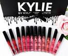 Набор жидких матовых помад Kylie Black edition черный с бантиком 12 штук   помада Кайли, фото 5