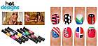 Набор для дизайна ногтей Hot designs | двойные лаки фломастеры | набор двойных лаков фломастеров для маникюра, фото 7