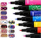 Набор для дизайна ногтей Hot designs | двойные лаки фломастеры | набор двойных лаков фломастеров для маникюра, фото 8